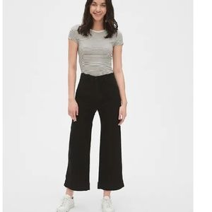 NWT Gap High Rise Wide Leg Crop Chinos 14T c905